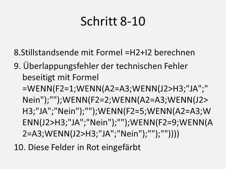 Schritt 8-10