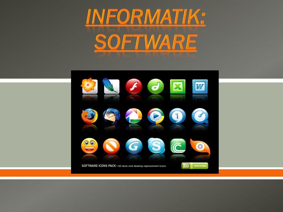 Informatik: Software
