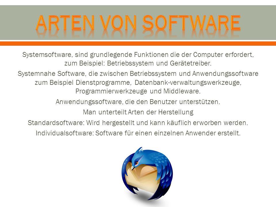 Arten von software