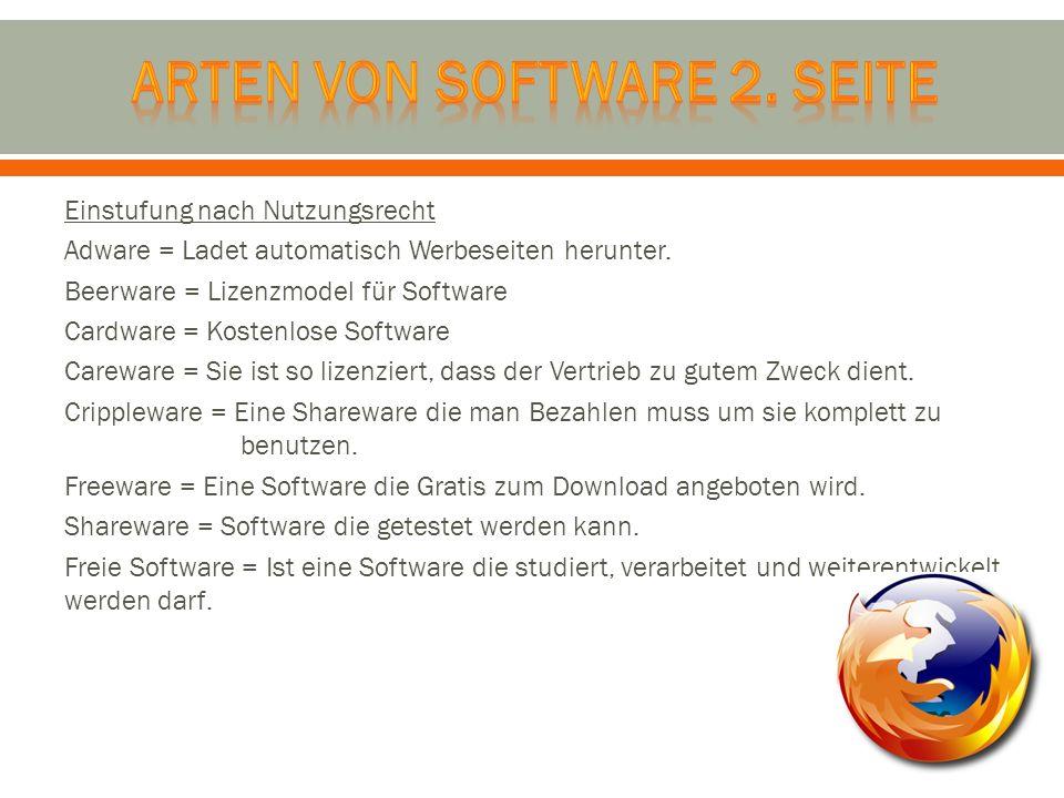 Arten Von software 2. seite