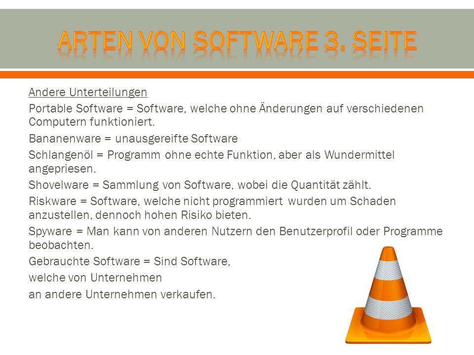 Arten von software 3. Seite
