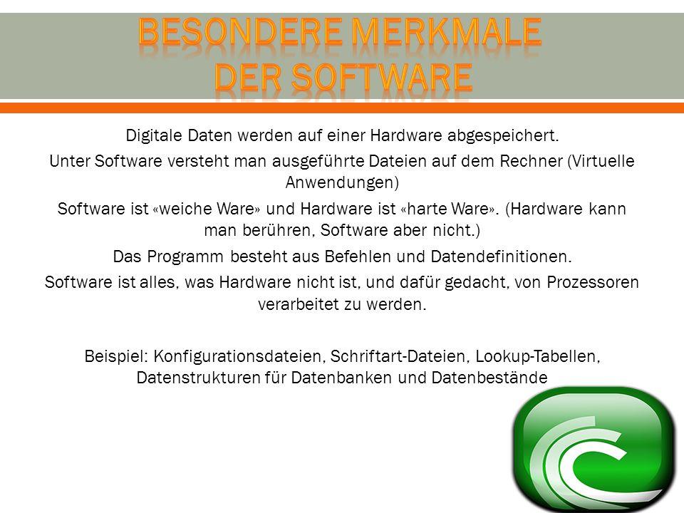 Besondere Merkmale der software