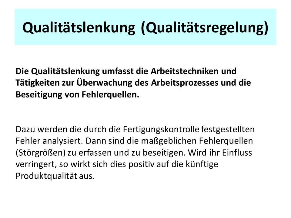 Qualitätslenkung (Qualitätsregelung)