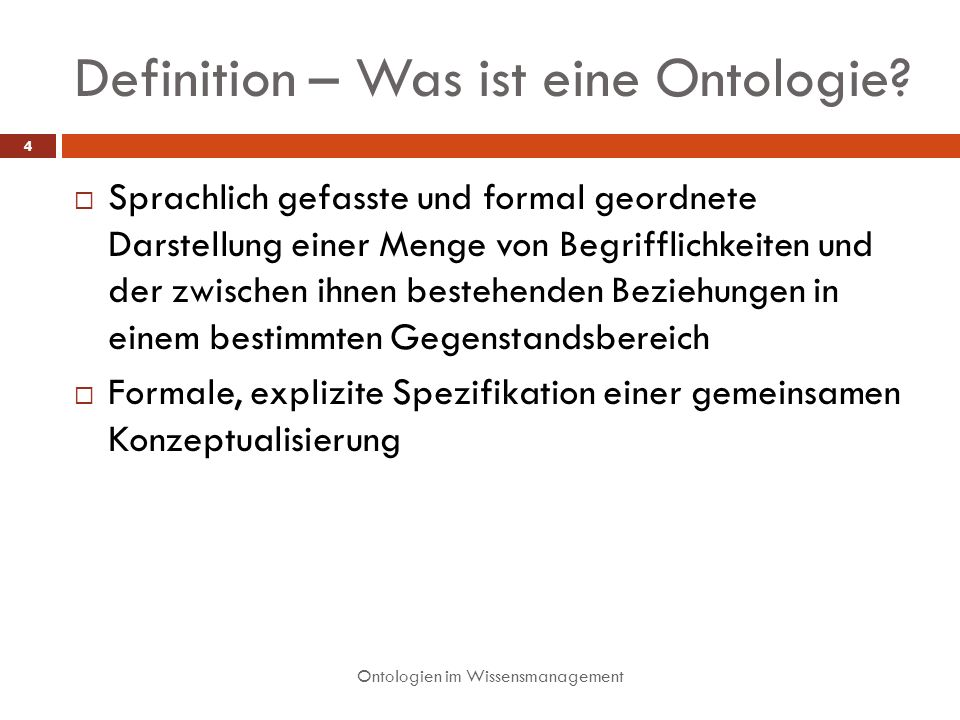 Definition – Was ist eine Ontologie
