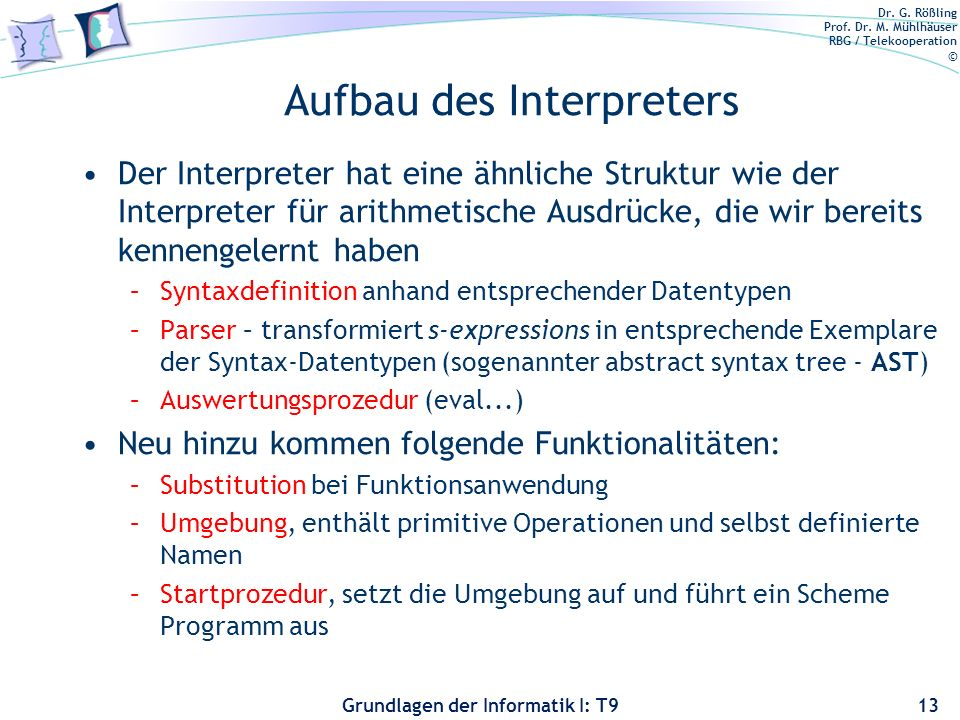 Aufbau des Interpreters