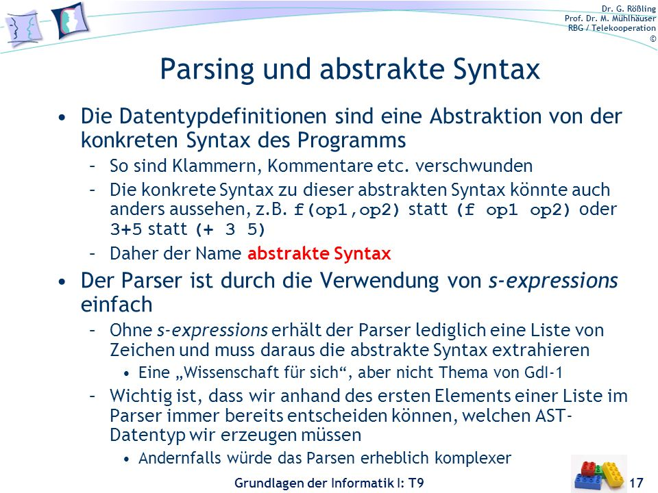 Parsing und abstrakte Syntax