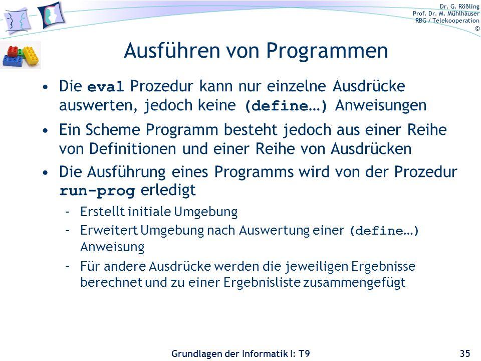 Ausführen von Programmen