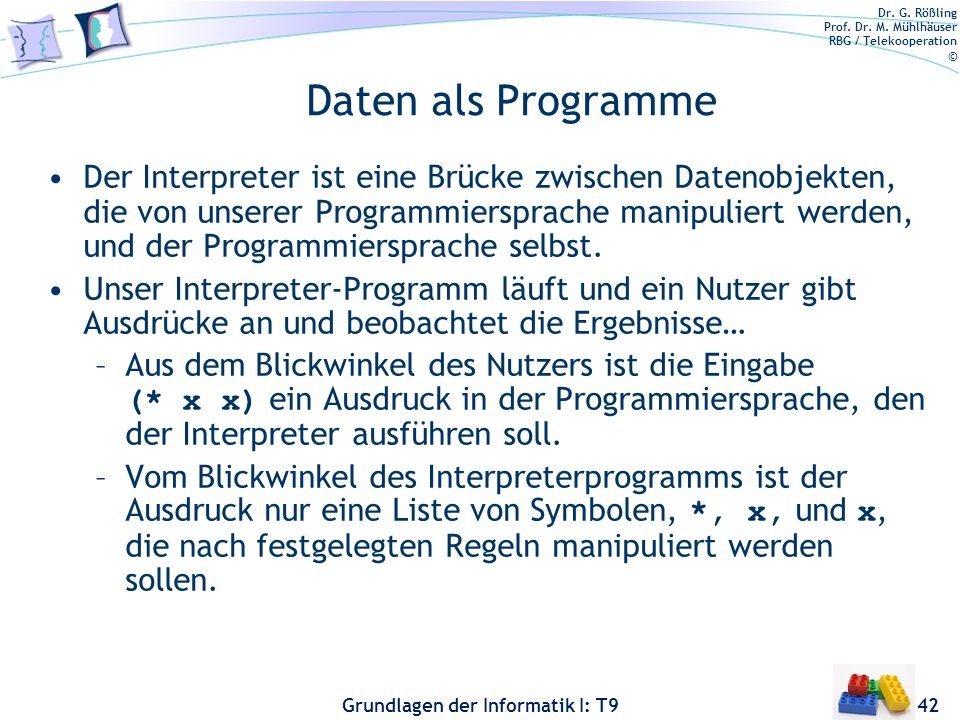 Daten als Programme