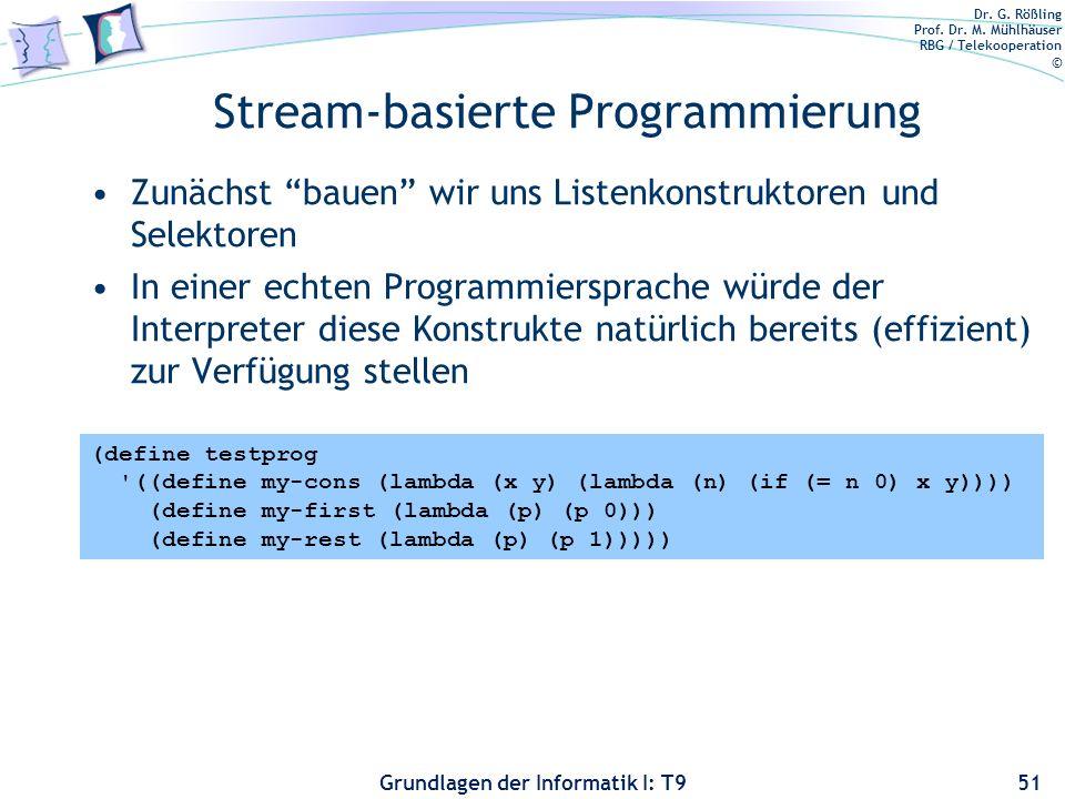 Stream-basierte Programmierung