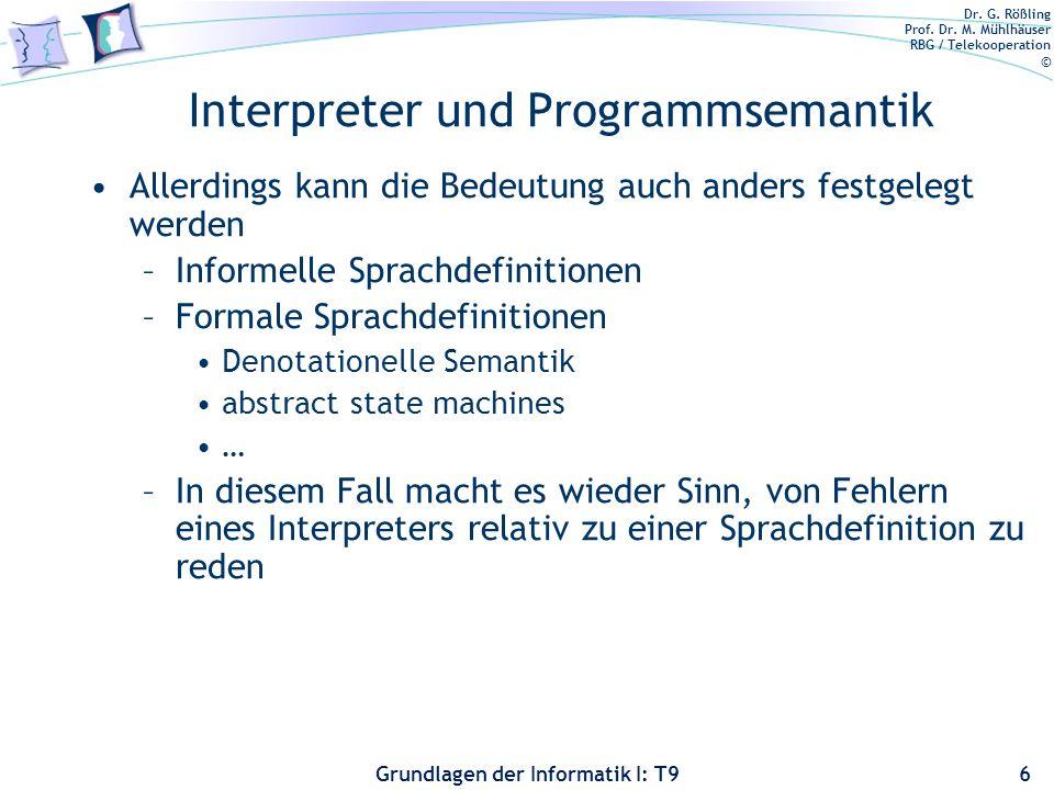 Interpreter und Programmsemantik