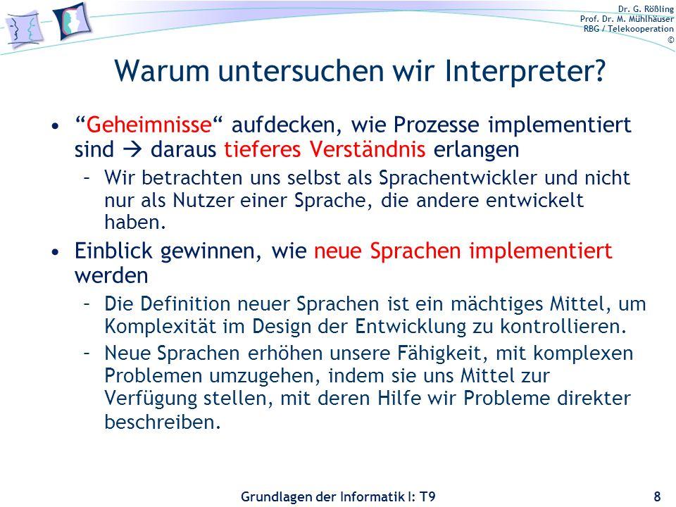 Warum untersuchen wir Interpreter