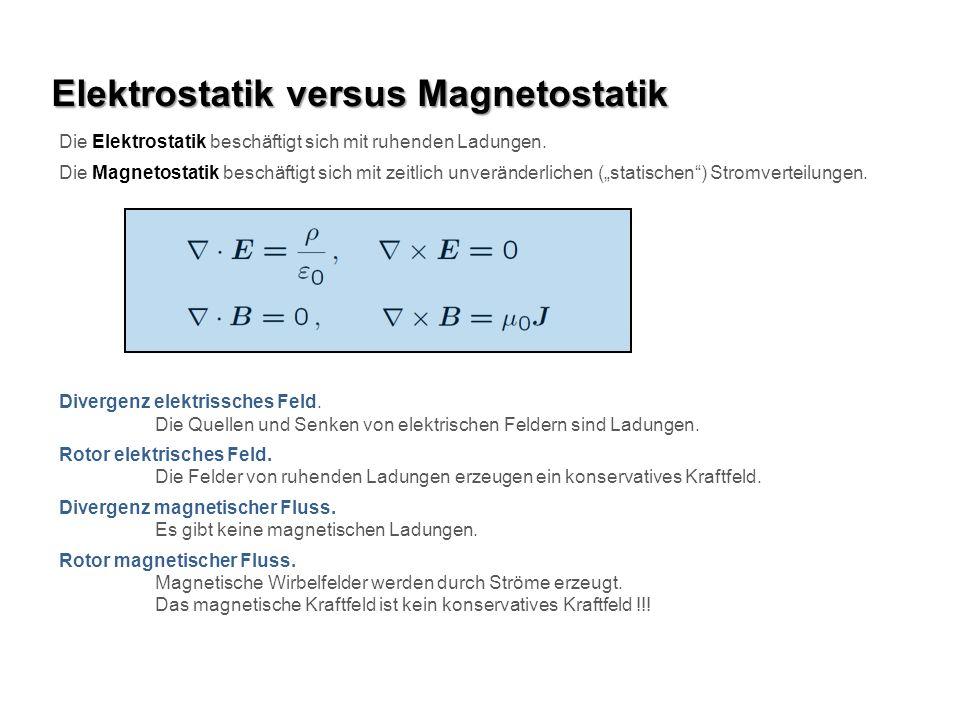Elektrostatik versus Magnetostatik
