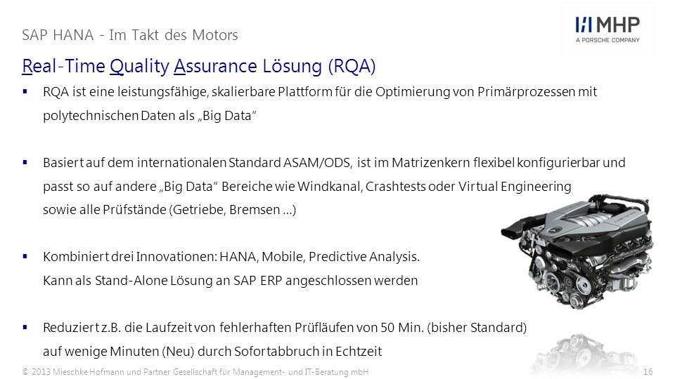 Real-Time Quality Assurance Lösung (RQA)