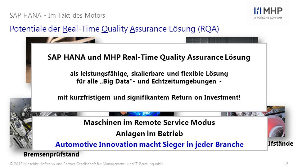 Potentiale der Real-Time Quality Assurance Lösung (RQA)