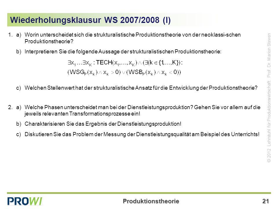Wiederholungsklausur WS 2007/2008 (I)