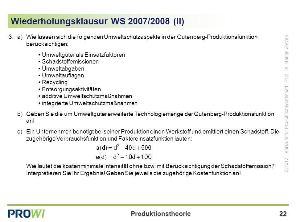 Wiederholungsklausur WS 2007/2008 (II)