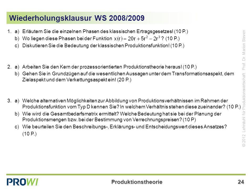 Wiederholungsklausur WS 2008/2009