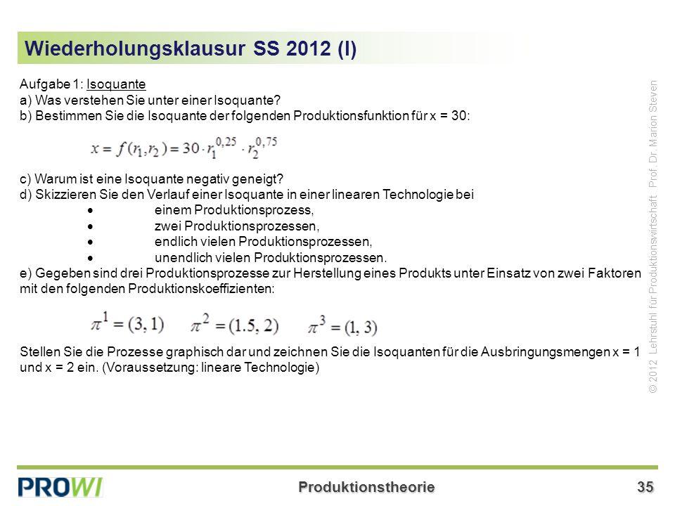 Wiederholungsklausur SS 2012 (I)