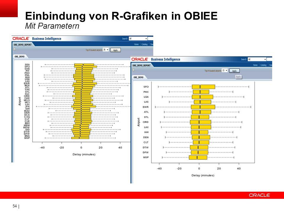 Einbindung von R-Grafiken in OBIEE Mit Parametern