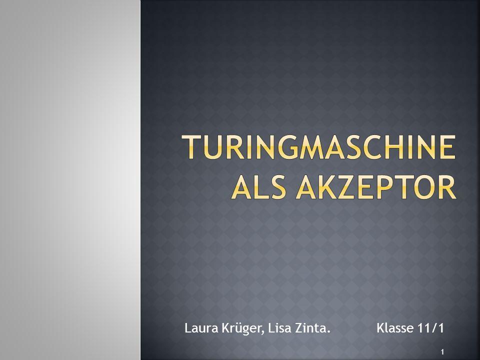 Turingmaschine als Akzeptor