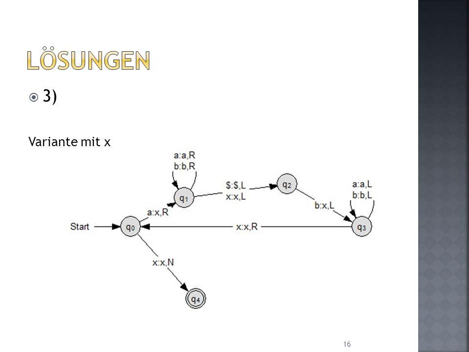 Lösungen 3) Variante mit x