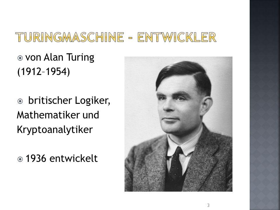 Turingmaschine - Entwickler