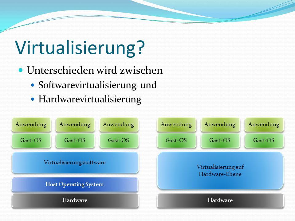 Virtualisierung Unterschieden wird zwischen