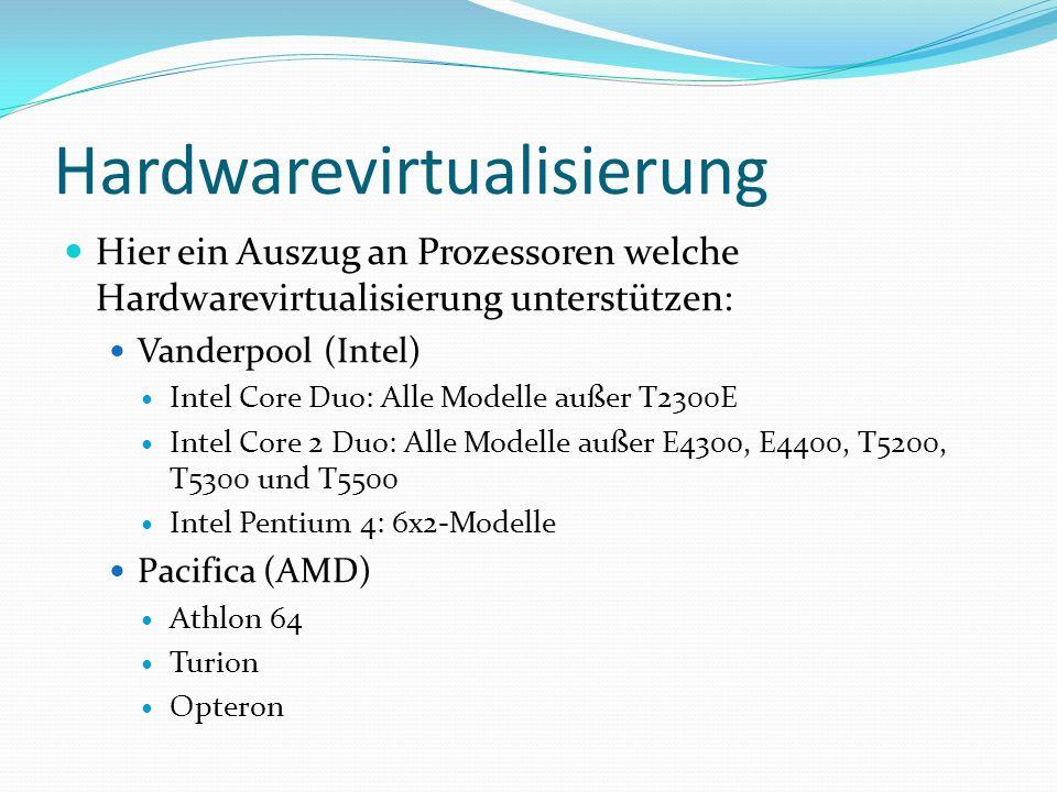 Hardwarevirtualisierung