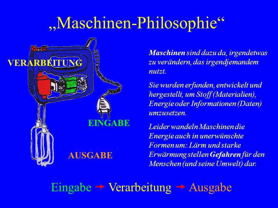 """Maschinen-Philosophie"