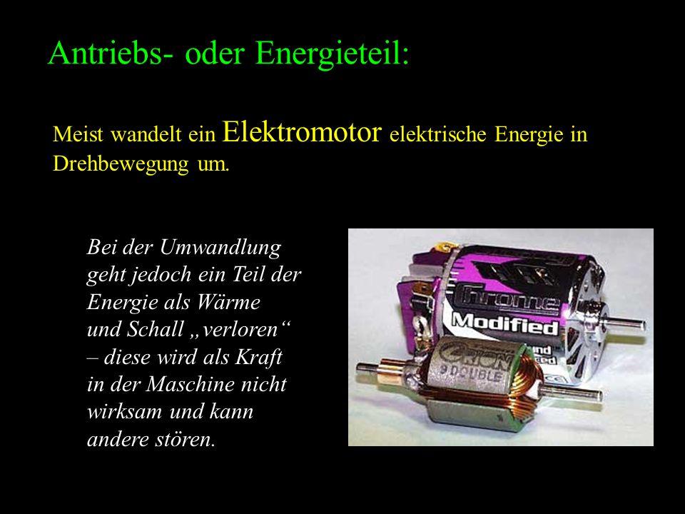 Antriebs- oder Energieteil: