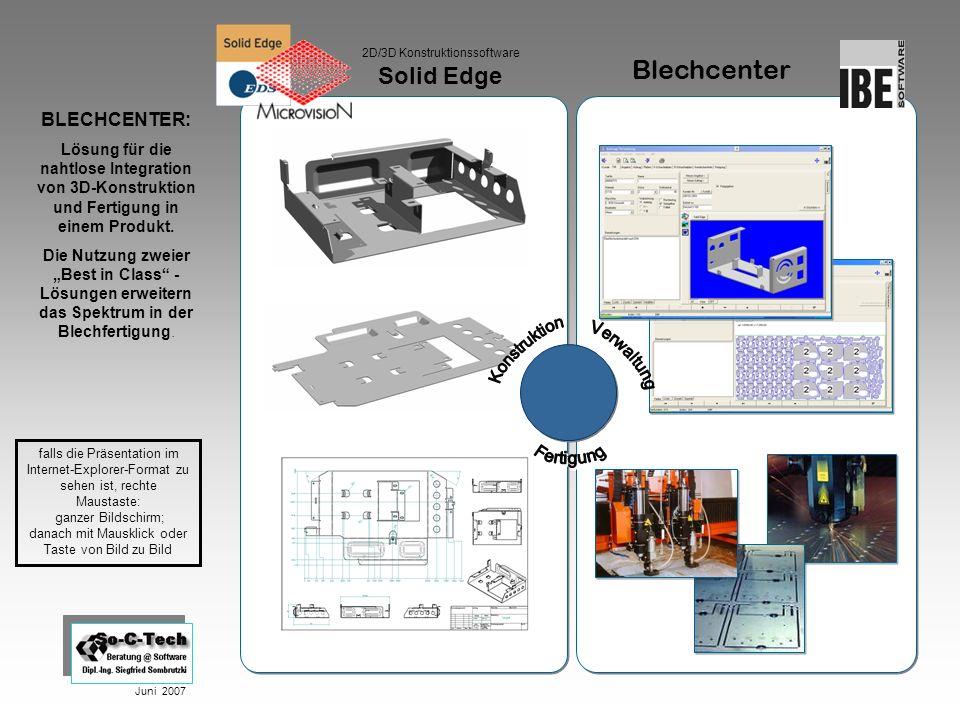 Blechcenter Solid Edge BLECHCENTER: