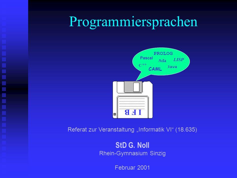 Programmiersprachen I F B