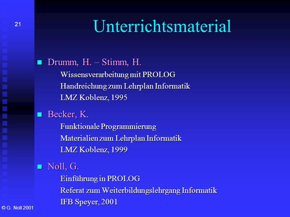 Unterrichtsmaterial Drumm, H. – Stimm, H. Becker, K. Noll, G.