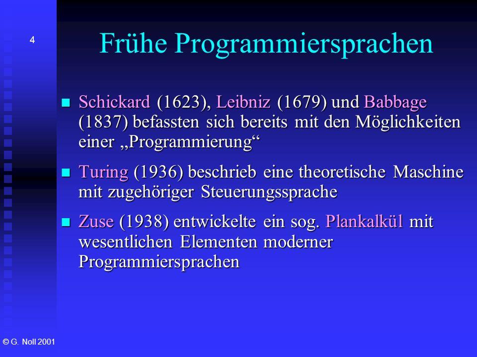 Frühe Programmiersprachen