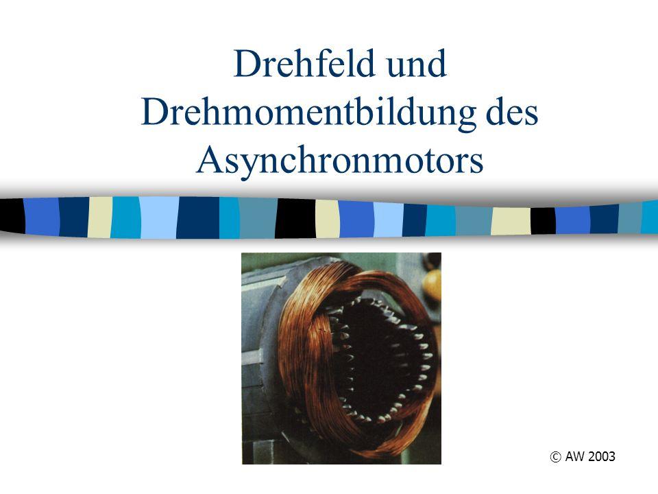 Drehfeld und Drehmomentbildung des Asynchronmotors