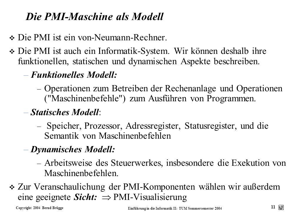 Die PMI-Maschine als Modell