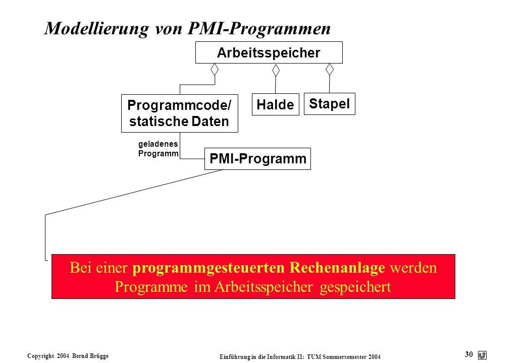 Modellierung von PMI-Programmen