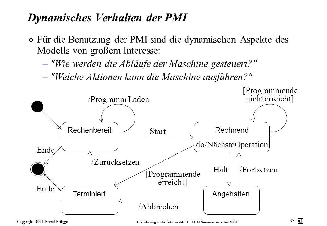 Dynamisches Verhalten der PMI