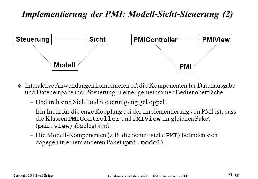 Implementierung der PMI: Modell-Sicht-Steuerung (2)