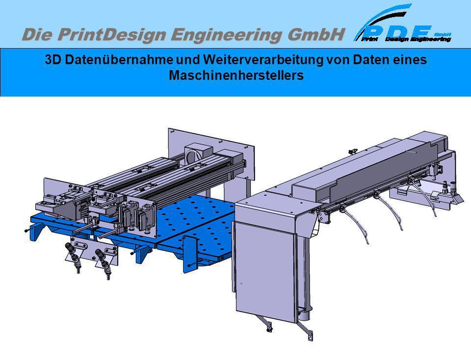 3D Datenübernahme und Weiterverarbeitung von Daten eines Maschinenherstellers