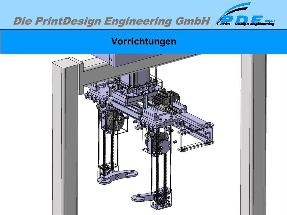 Vorrichtungen Verwendung von Normantriebselementen wie Zylinder, Motoren, Ventilinseln, Führungselementen.
