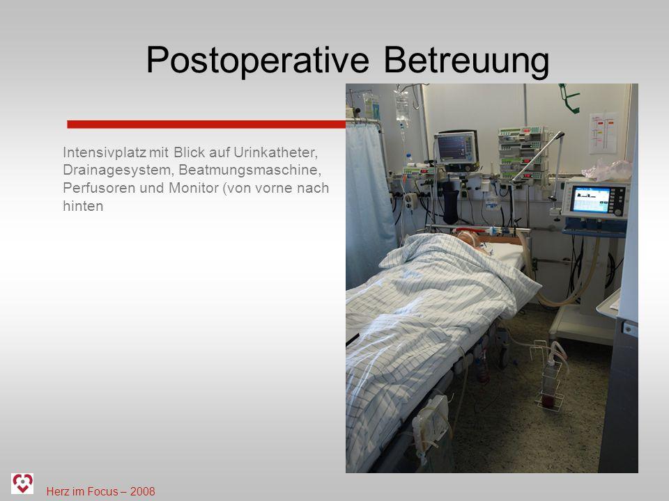 Postoperative Betreuung