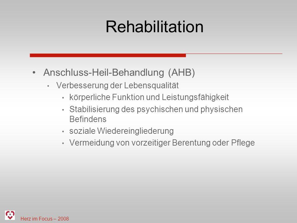 Rehabilitation Anschluss-Heil-Behandlung (AHB)