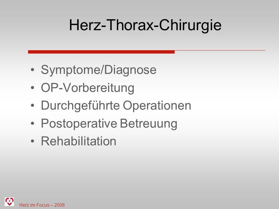 Herz-Thorax-Chirurgie