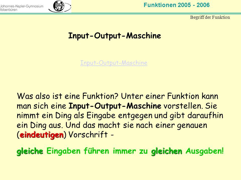 Input-Output-Maschine