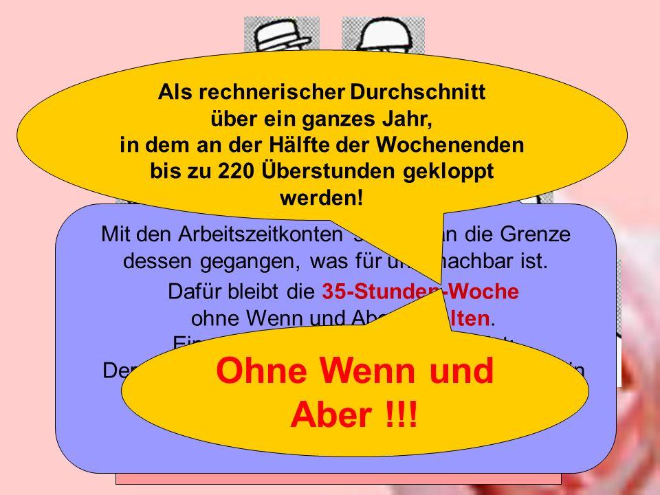 Ohne Wenn und Aber !!! Tarifrunde Druck 2004 / 2005