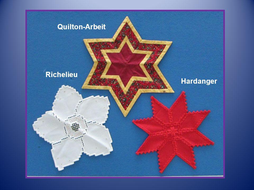 Quilton-Arbeit Richelieu Hardanger