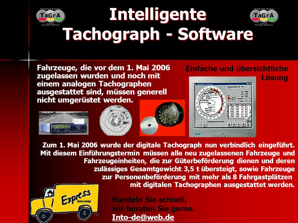 Intelligente Tachograph - Software