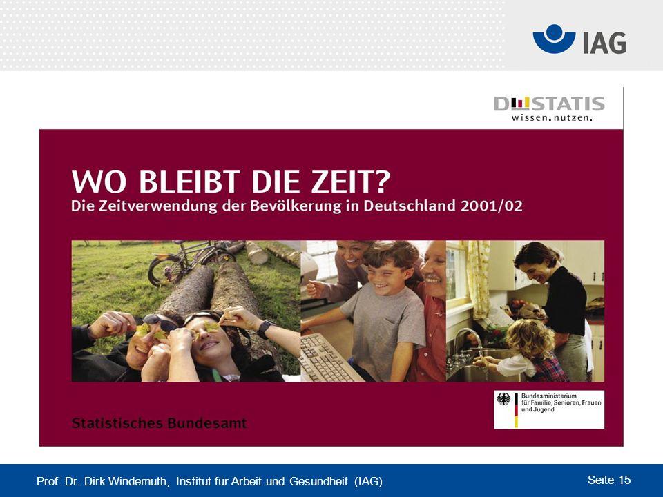 Prof. Dr. Dirk Windemuth, Institut für Arbeit und Gesundheit (IAG)