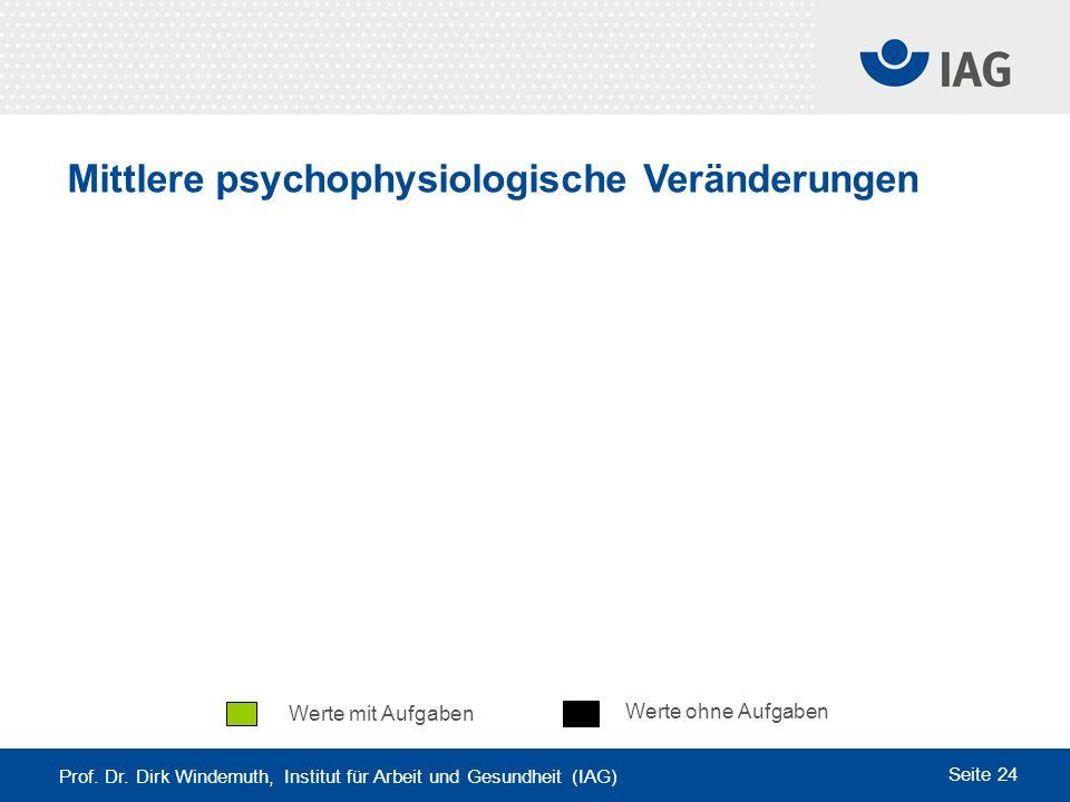 Mittlere psychophysiologische Veränderungen